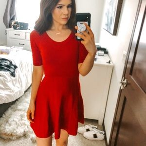 Candies Fitted and Flare Skater Sweater Dress G